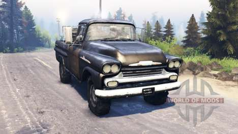 Chevrolet Apache 1959 v3.0 pour Spin Tires