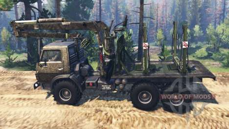 KamAZ-4310 [militaire] v3.0 pour Spin Tires