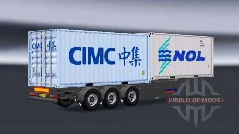 Semi container truck v1.1 pour American Truck Simulator