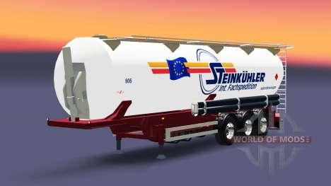 The semitrailer-tank Steinkuhler für Euro Truck Simulator 2
