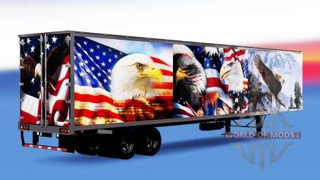 Tous métal-semi-remorque d'Aigle pour American Truck Simulator