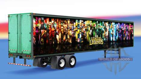 Tous métal-semi-remorque de League of Legends pour American Truck Simulator