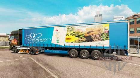 La peau BUGA 2015 pour semi pour Euro Truck Simulator 2