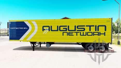 Une collection de 33 peaux pour les remorques pour American Truck Simulator