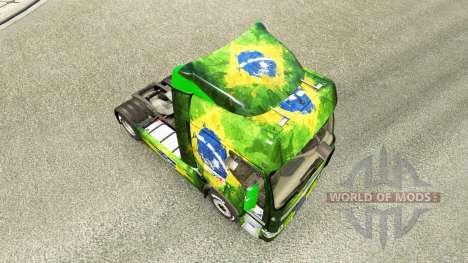 La peau Brasil 2014 pour tracteur Renault pour Euro Truck Simulator 2