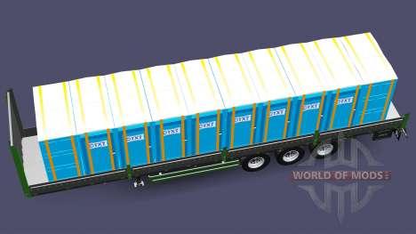 Semi-remorque plateau Kogel pour Euro Truck Simulator 2