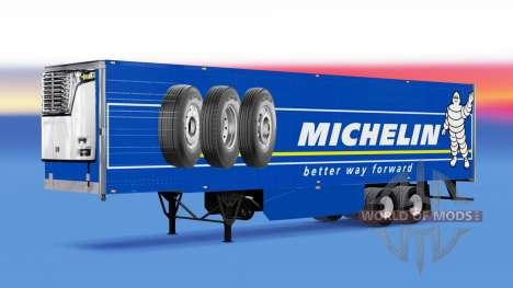 Michelin Haut auf der reefer-trailer für American Truck Simulator