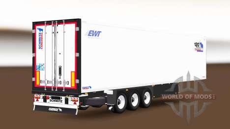 Semitrailer refrigerator Schmitz Cargobull pour Euro Truck Simulator 2