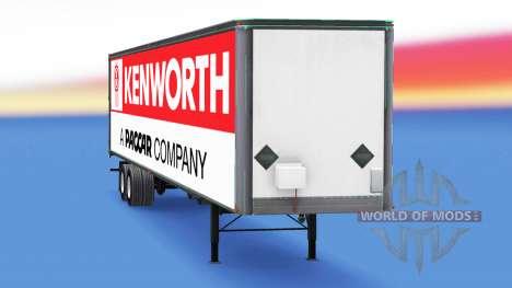 All-Metall-Auflieger Kenworth für American Truck Simulator