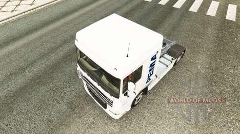 Le Pema peau pour le camion DAF pour Euro Truck Simulator 2