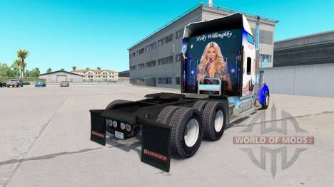 La peau Holly Willoughby sur le camion Kenworth  pour American Truck Simulator