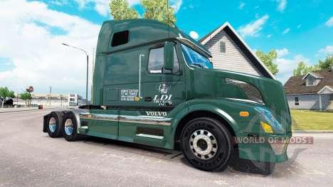 La peau de Services pour LDI tracteur Volvo VNL  pour American Truck Simulator