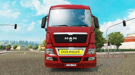 Oversize Load Sign für Euro Truck Simulator 2