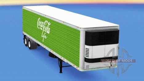 Frigorifique semi-remorque Coca-Cola Life pour American Truck Simulator