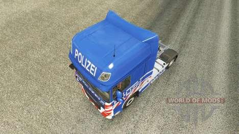 Polizei skin für den DAF-LKW für Euro Truck Simulator 2