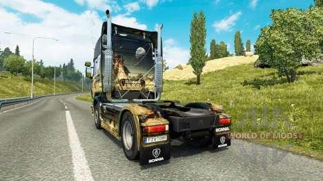 Raum-Szene-skin für den Scania truck für Euro Truck Simulator 2