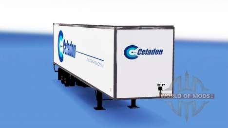 Celadon Haut auf dem Anhänger für American Truck Simulator