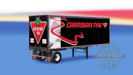 All-Metall-semi-trailer Canadian Tire für American Truck Simulator