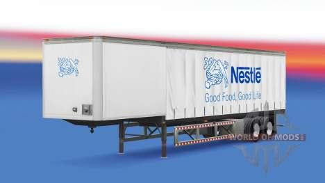 La peau se Nichent dans la remorque pour American Truck Simulator