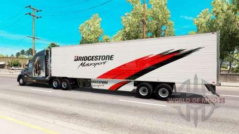 Bridgestone de la peau sur le reefer remorque pour American Truck Simulator