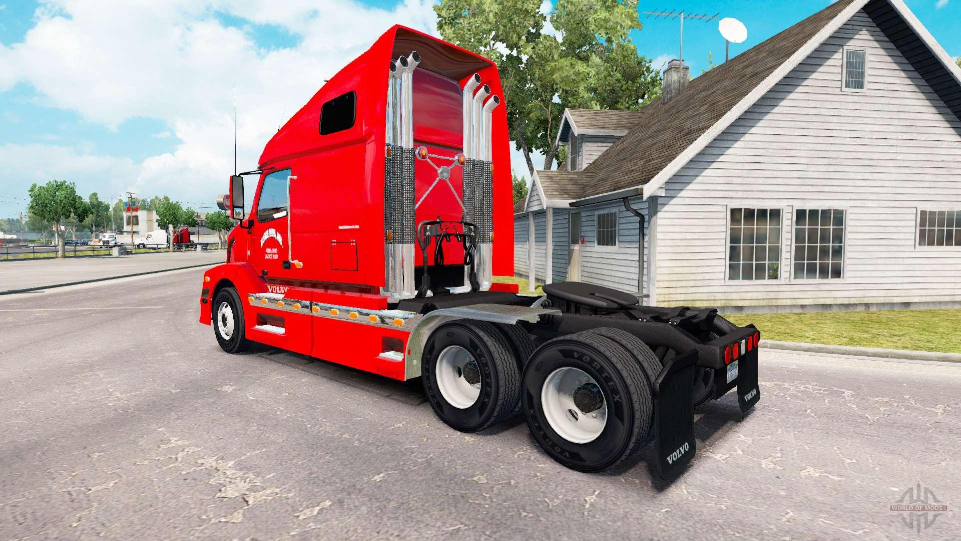 la peau de courir la maison pour le camion volvo vnl 670 pour american truck simulator. Black Bedroom Furniture Sets. Home Design Ideas