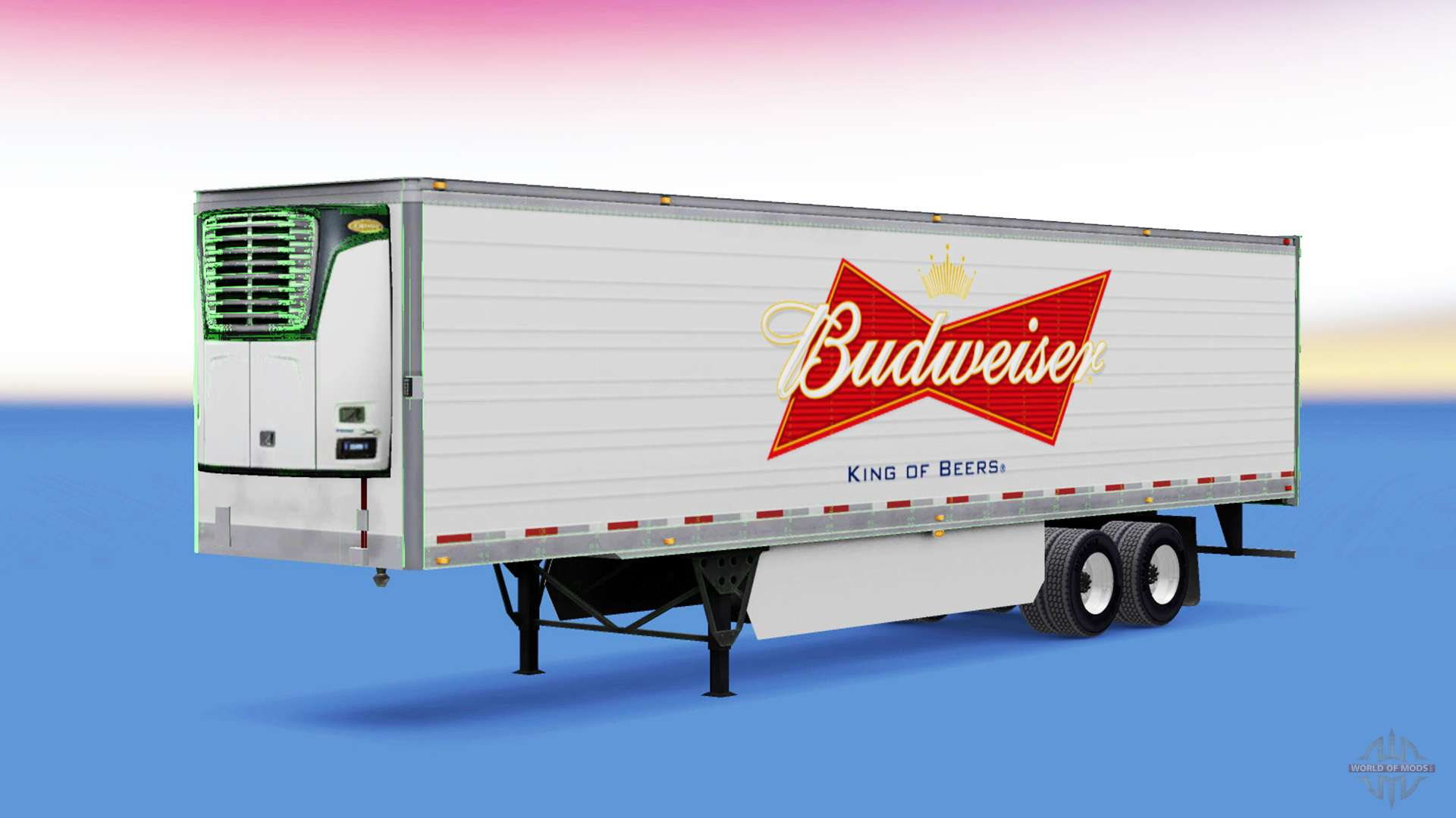 la peau sur budweiser frigorifique semi remorque pour american truck simulator. Black Bedroom Furniture Sets. Home Design Ideas