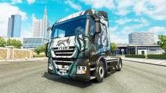 La peau Klanatrans sur le camion Iveco