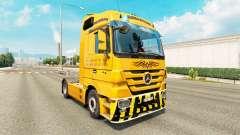La peau Trans Europe sur camion Mercedes-Benz