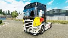 Red Bull de la peau pour Scania camion