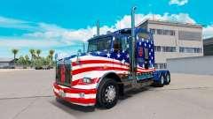 La peau Drapeau USA tracteur sur un Kenworth T80