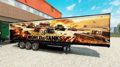 La peau de World of Tanks sur des semi-remorques