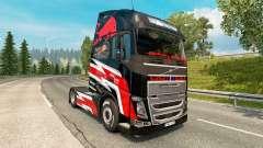 Red Bull de la peau pour Volvo camion