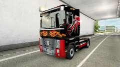 Camionneur de la peau pour camion Renault