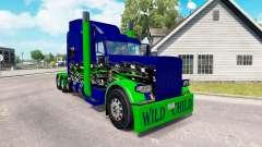 Haut-Wildes Kind auf dem truck-Peterbilt 389