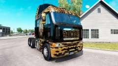 La peau de Jaguar sur le camion Freightliner Arg