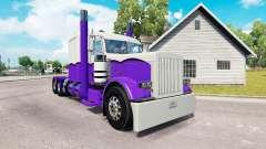 Haut Lila und Weiß für die truck-Peterbilt 389