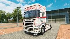 La peau de Bart Kroeze au tracteur Scania