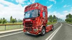 La peau de Coca-Cola de Bulles sur le tracteur S