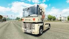 Pinup Haut für Renault-LKW