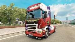 Le Chili Copa 2014 de la peau pour Scania camion