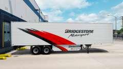 Bridgestone Haut auf der reefer-trailer