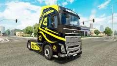 Les peaux Noires Et Jaunes chez Volvo trucks