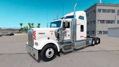 La peau Heartland Express, [blanc] de camion Ken