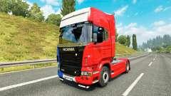 La France de la peau pour Scania camion