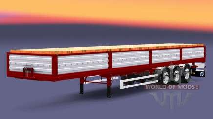 Flachbett-Auflieger mit einer Ladung Ziegel für Euro Truck Simulator 2