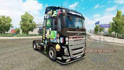 Brasil 2014-skin für den Volvo truck für Euro Truck Simulator 2