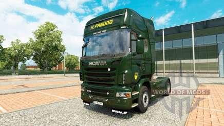 La peau H. Freund sur tracteur Scania pour Euro Truck Simulator 2