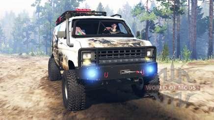 Ford E-350 [econoline safari] pour Spin Tires