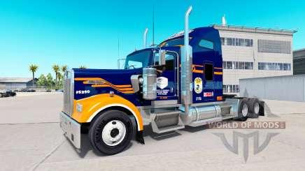 Haut Denver Broncos auf die LKW-Kenworth W900 für American Truck Simulator