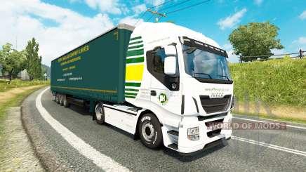 Jeffrys Transport de marchandises de la peau pour les tracteurs pour Euro Truck Simulator 2